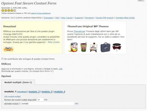 Lista dei migliori form contatti per WordPress