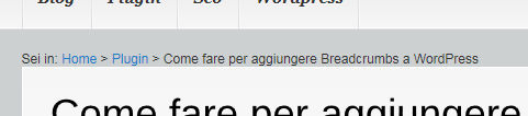 Come fare per aggiungere Breadcrumbs a WordPress
