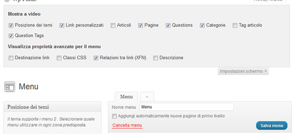 Come mettere nofollow su link del menu WordPress