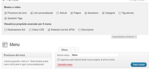 link nofollow menu wordpress