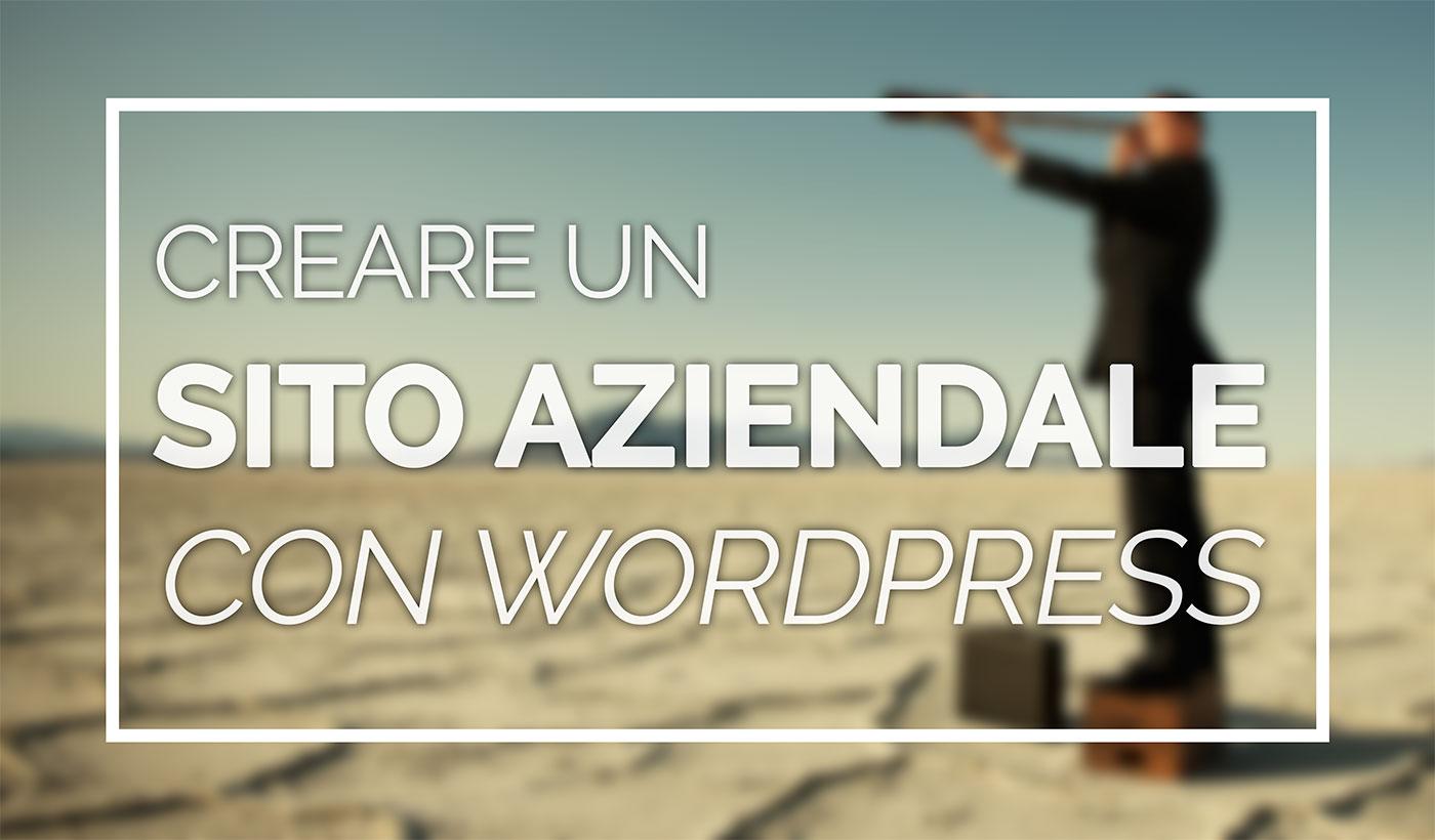 creare sito aziendale wordpress
