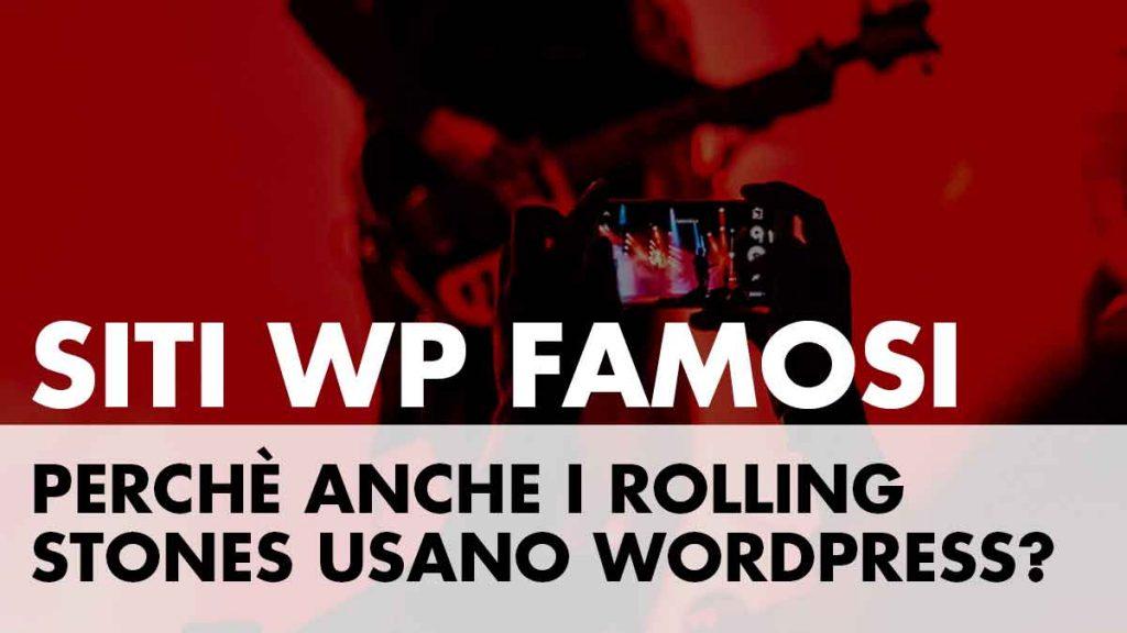 Siti famosi realizzati in WordPress