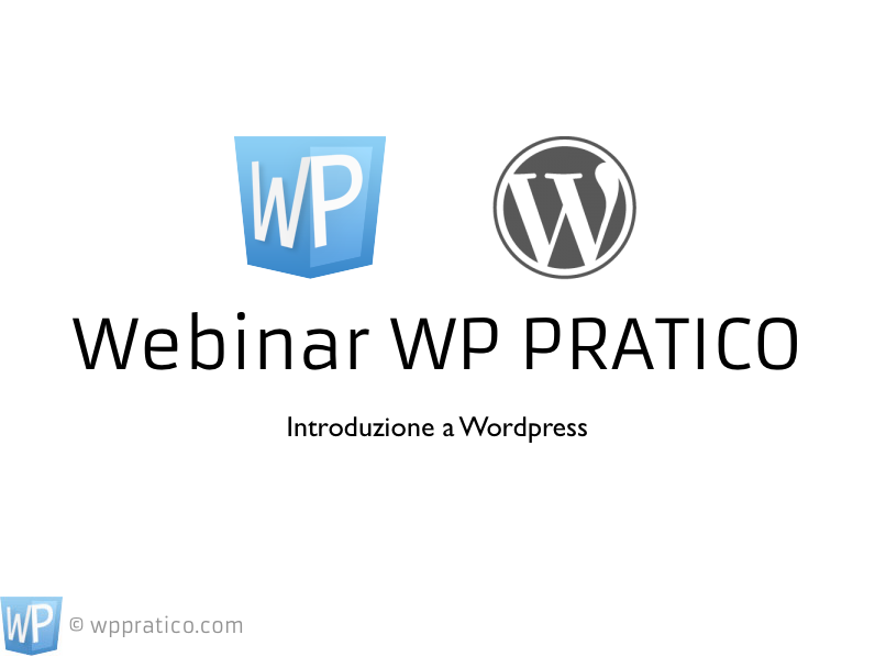 "Webinar gratuito ""Introduzione a WordPress"""
