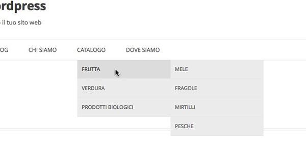 esempio menu catalogo