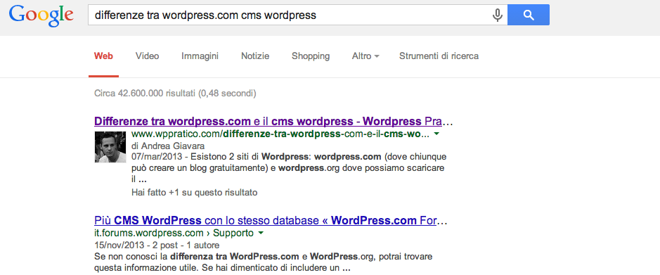 Come configurare Google+ su wordpress