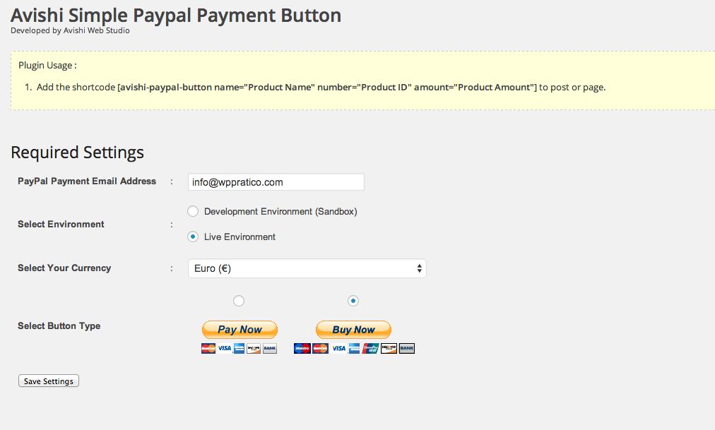Avishi WP PayPal Payment Button