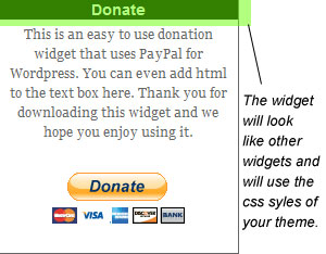 WP Paypal Simple Donation Widget