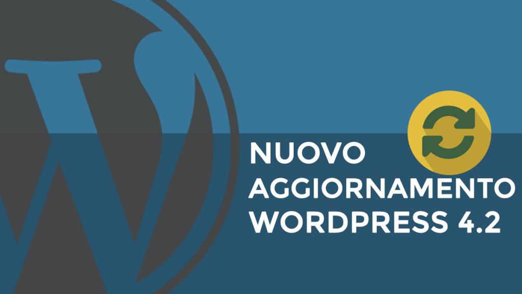 aggiornamento wordpress 4.2