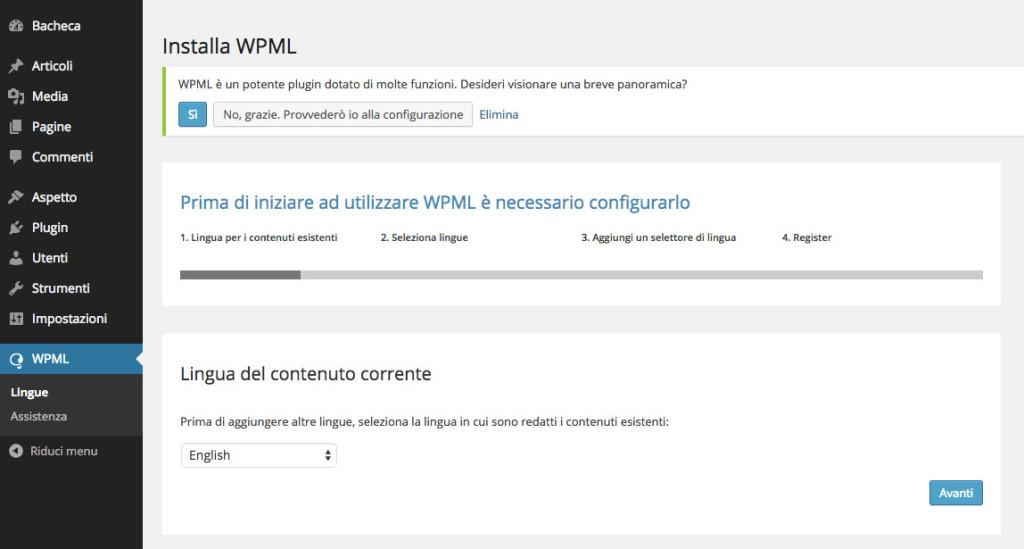 Creare un sito multilingua con WordPress