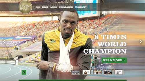 sito wordpress di usain bolt