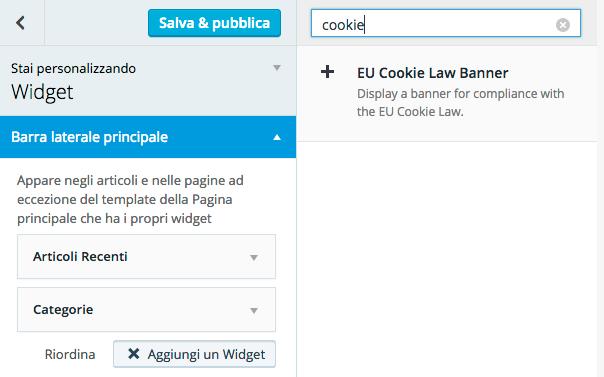 widget cookie law per wordpress.com