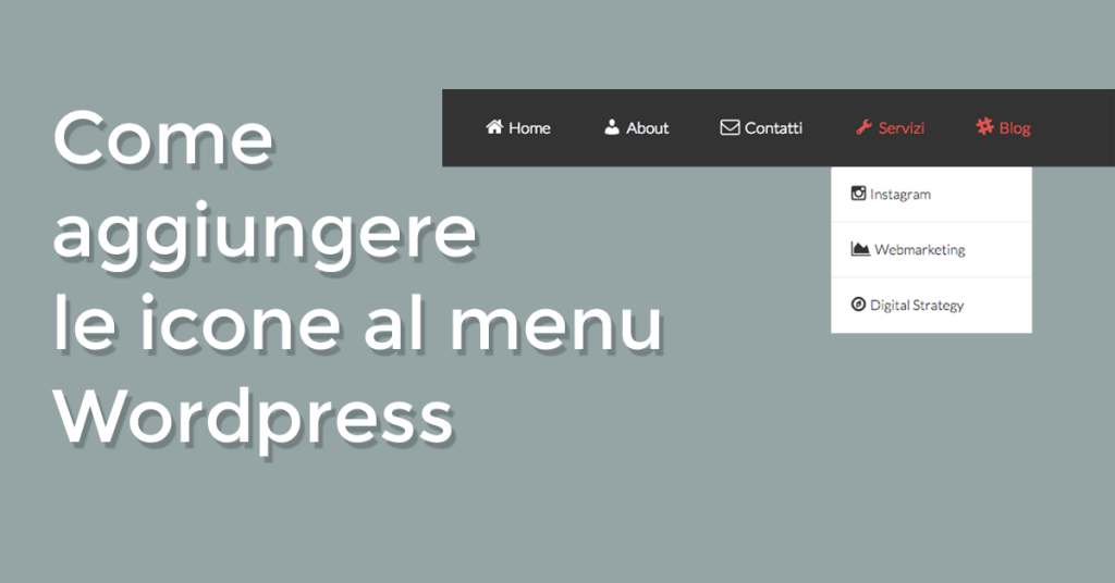 aggiungere icone menu wordpress