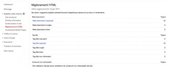 Miglioramenti HTML