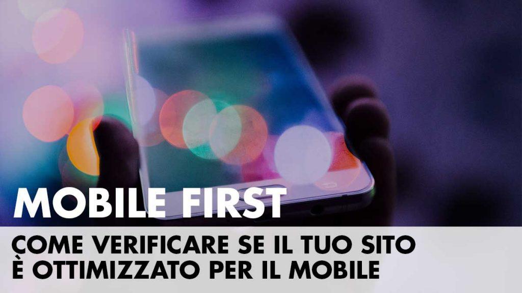 com verificare il tuo sito mobile friendly