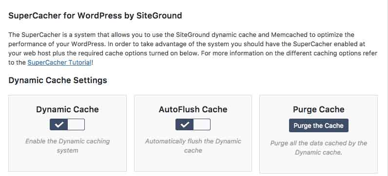 SuperCacher for WordPress by SiteGround